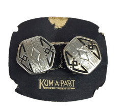 Vintage Kum A Part Snap Cufflinks Sterling Tops with original Card - $88.61