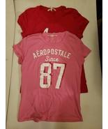 2 Aeropostale Pink & Red Logo T-Shirts Both Women's Size XL - $20.00