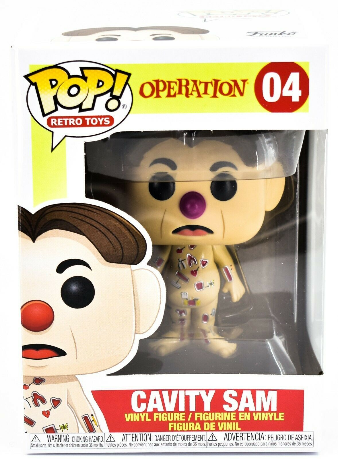 Funko Pop! Retro Toys Operation Cavity Sam #04 Vinyl Figure