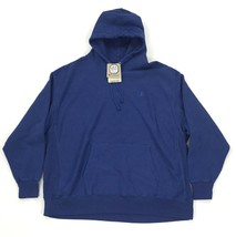 New Champion Reverse Weave Hoodie Size 3XL Big Tall Blue Pigment Dye Logo - $49.99