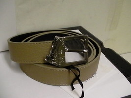 Versace collection belt size 85/100 genuine leather made in Italy beige ... - $148.45