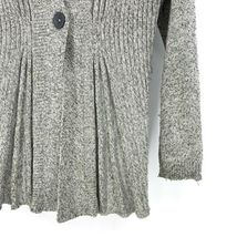 Anthropologie Rosie Neira Womens Sz L Marled Gray Cardigan Sweater Single Button image 5