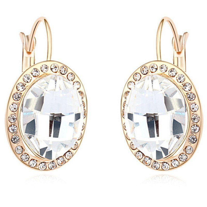 Drop earrings jewelry red crystal from swarovski fashion accessories for women female gift 14298