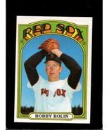 1972 TOPPS #266 BOBBY BOLIN VG+ RED SOX  *X2891 - $0.99