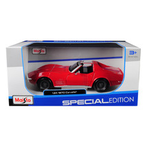 1970 Chevrolet Corvette Red 1/24 Diecast Car Model by Maisto 31202r - $28.93
