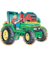 Great American Puzzle Factory John Deere Tractor Giant Shaped Floor Puzzle - $39.99