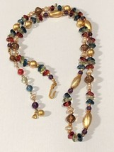 Colorful and Beautiful Acrylic Bead Retro Necklace Signed LCI - Liz Clai... - $13.86