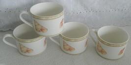 Set of 4 Victoria Beale Atlantis 9044 Sea Shell Beach Porcelain Flat Cups - $14.99