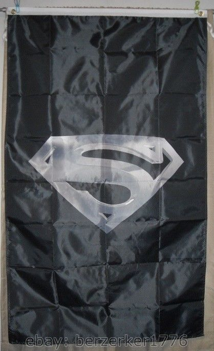 Superman 3'x5' vertical Black Flag Banner DC Comics batman Joker USA Shipper