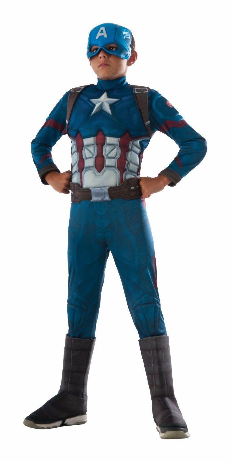 Rubies Marvel Comics de Luxe Muscle Poitrine Enfants Captain America Déguisement
