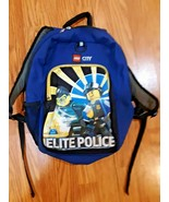 Lego City Kids Blue Elite Police Backpack 16 x 10 inch  - $16.82