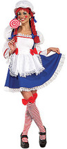 Secret Wishes Rag Doll Raggedy Ann Adult Halloween Costume Women's Size Large - $54.12