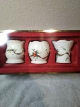 3)  LENOX CHRISTMAS VOTIVE CANDLE HOLDERS  HOLIDAY TARTAN  -FREE SHIP--NEW - $34.20