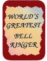 "World's Greatest Bell Ringer 3"" x 4"" Love Note Music Sayings Pocket Card... - $2.69"