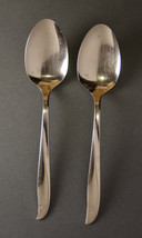 Oneida Community Twin Star tablespoons 2 serving spoons stainless atomic... - $5.93
