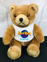 "Hard Rock Cafe Memphis Brown TEDDY BEAR  Plush Toy Wearing Logo T-Shirt 10"" - $13.46"