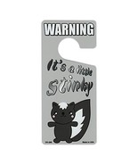 Crazy Novelty Guy Door Knob Hanger, Metal, Warning, It's a Little Stinky... - $8.99