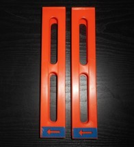2 VINTAGE PRESSMAN DOMINO RALLY DOMINO DEALER ORANGE TOWER INSERTS REFILLS - $18.70