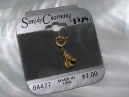 Estate Simply Charming by 1928 Dainty Goldtone Horse Head Charm – 3/8th's x 3/8t - $6.79