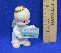 Precious Little Moments Figurine Highway to Happiness Angel Holding Sign... - $9.85