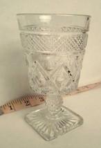 Imperial Glass Cape Cod Clear Diamond Thumb Print Cordials Waffle Ball Stem - $15.79