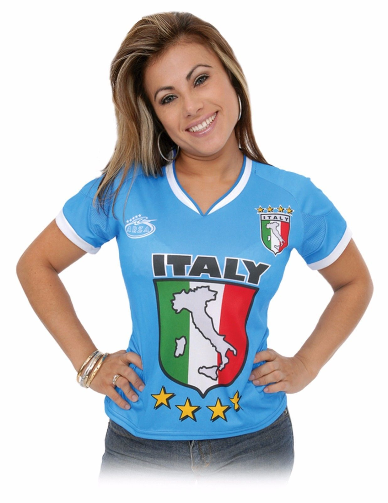 129ff8142 ITALY Women Arza Soccer Jersey 100% and 38 similar items. S l1600