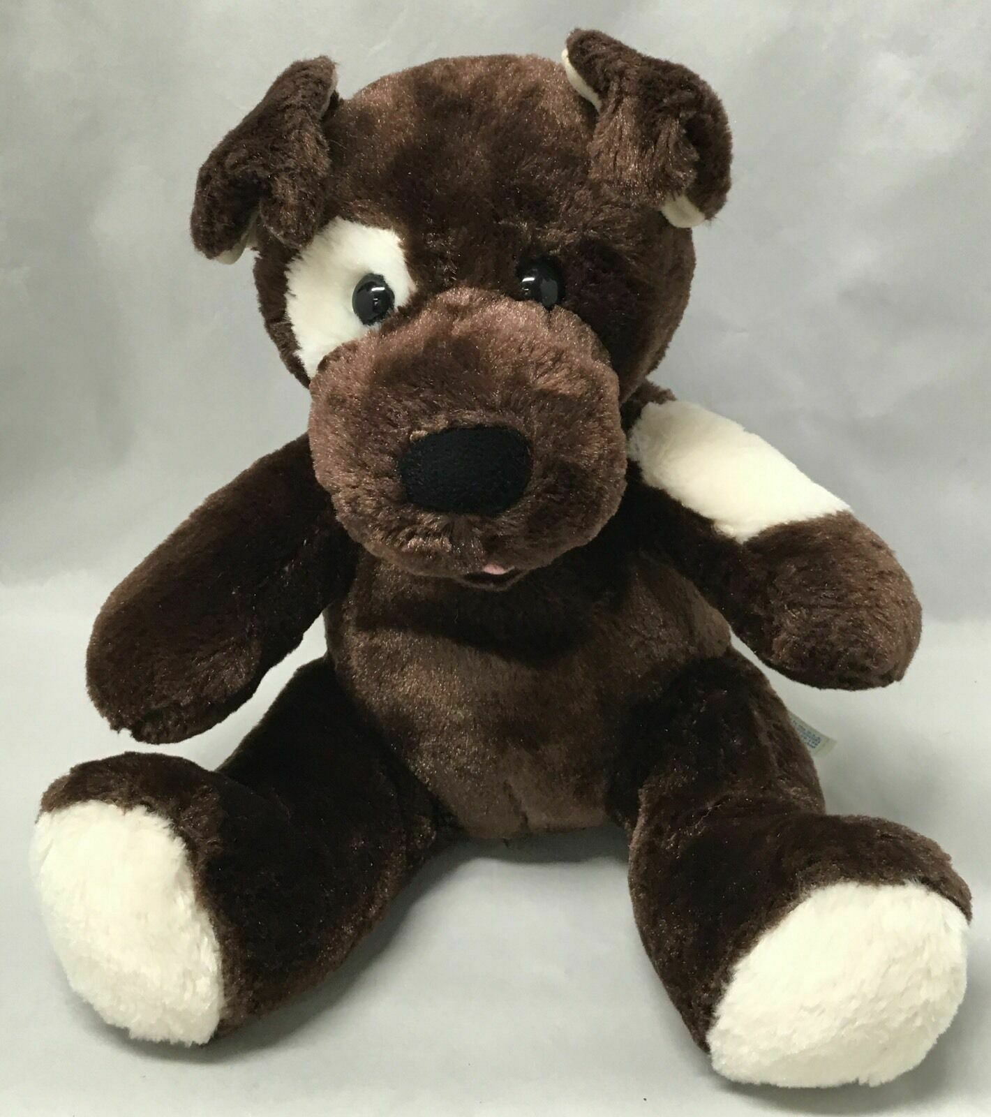 "Primary image for BABW / Build a Bear Workshop Dark Brown Spotted Sugar Pup Dog 12"" Plush Toy"