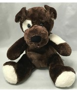 "BABW / Build a Bear Workshop Dark Brown Spotted Sugar Pup Dog 12"" Plush Toy - $9.85"