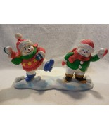 Yankee Candle Snowmen Snowball Fight Large Jar Candle Holder - $12.95