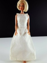 Barbie White Lace Formal Gown Lace Netting Over Satin Clone 1960s Clothing - $24.74