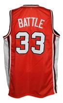 Kenny Battle #33 Custom College Basketball Jersey New Sewn Orange Any Size image 2