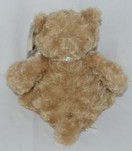 GANZ Brand HX11089 Light Brown Color Soft and Cuddly Hayden Plush Bear With Bow image 3