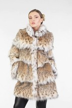 Women's Bobcat Lynx Fur Coat Hip Length Brand New - $1,980.00