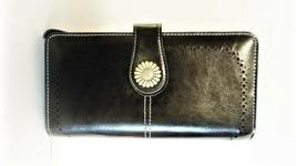 RFID Blocking Large Capacity Genuine Leather Ladies Wallet, Black