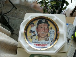 17#4 The Hamilton Collection 18 World Series Hr Mickey Mantle Collectors Plate - $13.85