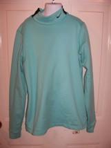 Nike Fit Dry Turtle Neck Light Blue Long Sleeve Shirt Size M Girl's EUC - $39.99