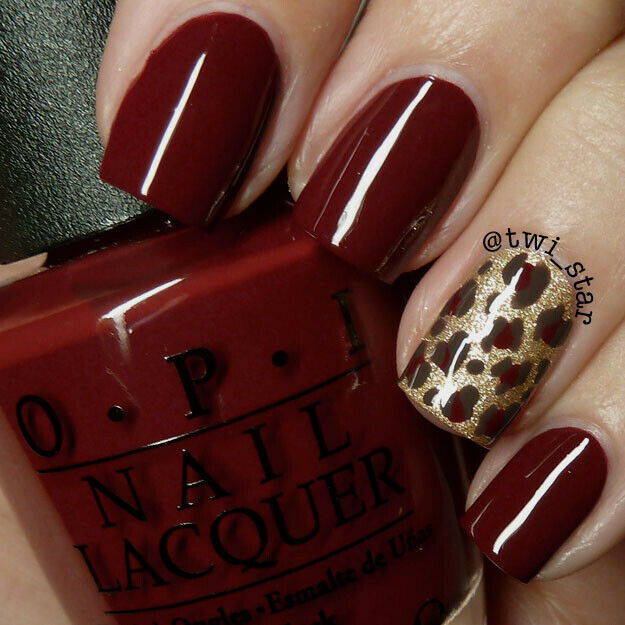 Primary image for OPI Bond 007 SKYFALL Dark Vampy Red w/ Brown Creme Nail Polish Lacquer D12 RARE!