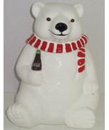 1994 Coca Cola Coke Polar Bear Cookie Jar Ceram... - $89.95