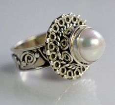 Fresh Water Pearl 925 Sterling Solid Silver Ring, Handmade Silver Ring - £17.21 GBP