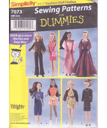 Simplicity 7073 Sewing for Dummies Doll Clothes Pattern Wardrobe for 11.... - $12.00