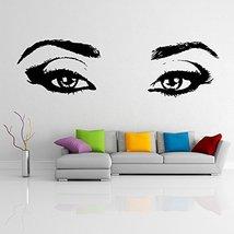 ( 63'' x 18'') Vinyl Wall Decal Realistic Womens Eyes Silhouette / Sexy Teens Fa - $38.11