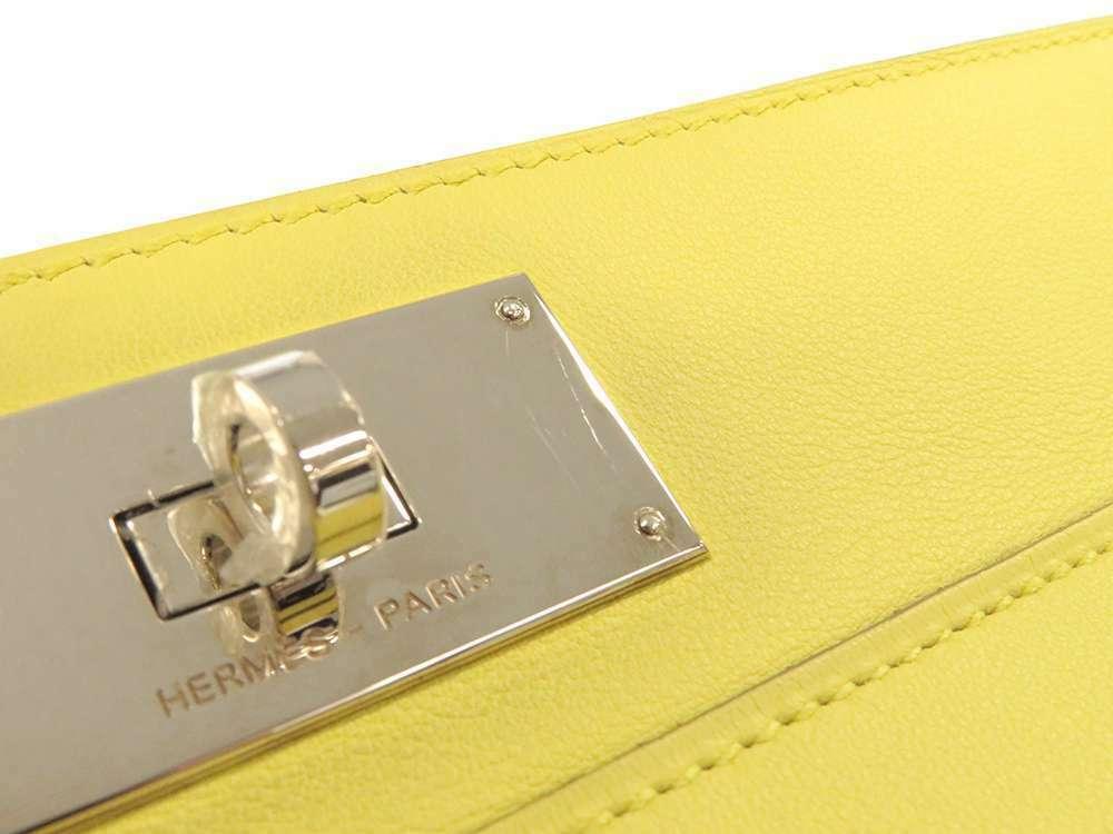HERMES Toolbox 26 Veau Swift Soufre Handbag Shoulder Bag France #Q Authentic image 8