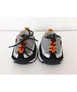 Build A Bear Shoes Skechers Black Gray Orange Tennis Shoes Black Laces - $7.79