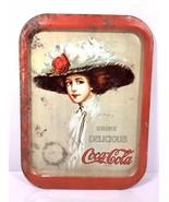 """Vintage Coca Cola Girl Metal Serving Tray - Hamilton King 15"""" x 11"""" - $12.30"""