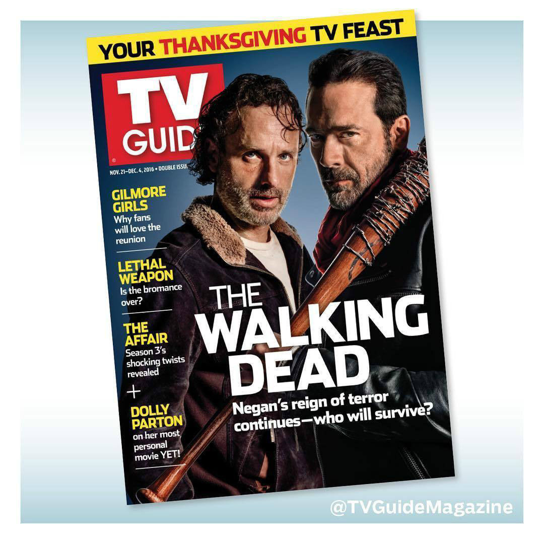 Primary image for WALKING DEAD TV GUIDE ANDREW LINCOLN NEGAN JEFFREY DEAN MORGAN November 2016