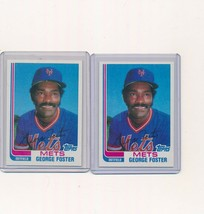 1982 Topps Traded Baseball Card #36T George Foster METS   Lot of 2 - $2.00