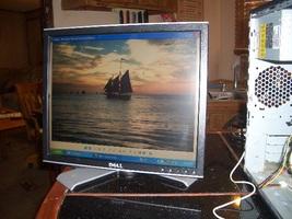 Dell 1707FPT 17-Inch DVI LCD Monitor w/USB Hub (Black/Silver) used good ... - $35.00