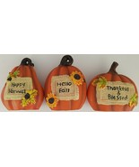 Fall Thanksgiving Harvest Message Pumpkin Decorations Mini, Select Message - $2.99