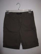Calvin Klein Jeans Women Bermuda Shorts BNWT Stone Green Morel 100% Authentic - $24.99