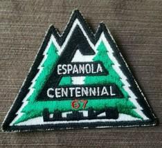 """Espanola Centennial 1967 Patch Forest Pine Trees 4"""" x 3"""" Vintage Black G... - $9.74"""